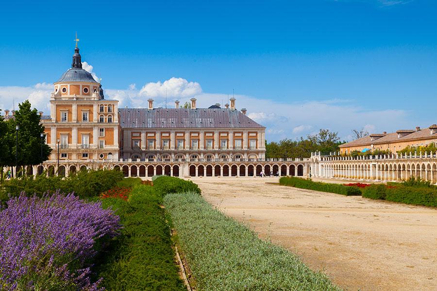 Vista de los Jardines de Aranjuez y el Palacio