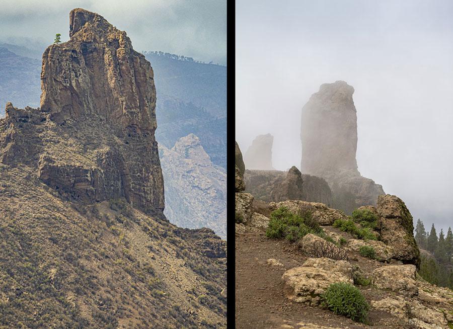 Roque Bentayga y el Roque Nublo, dos símbolos de Gran Canaria