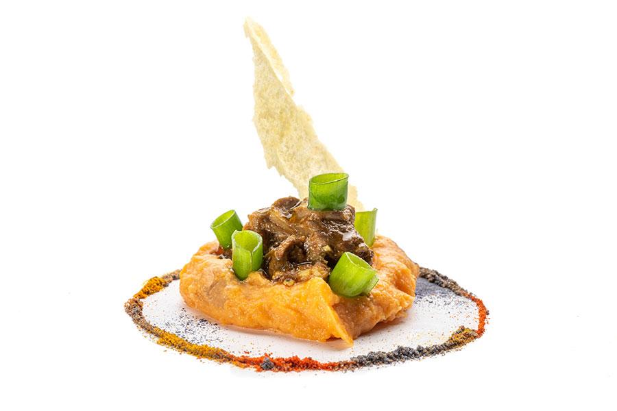 Estofado de cordero y batata ibérica_