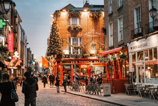Temples Bar, Dublín en Navidad