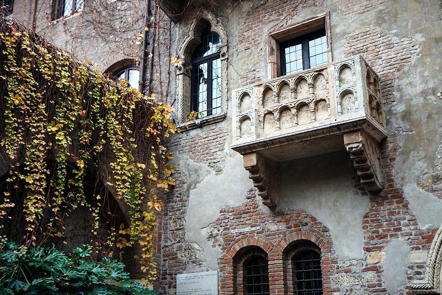 Balcón de Romeo y Julieta en Verona, las 5 ciudades de más románticas Europa
