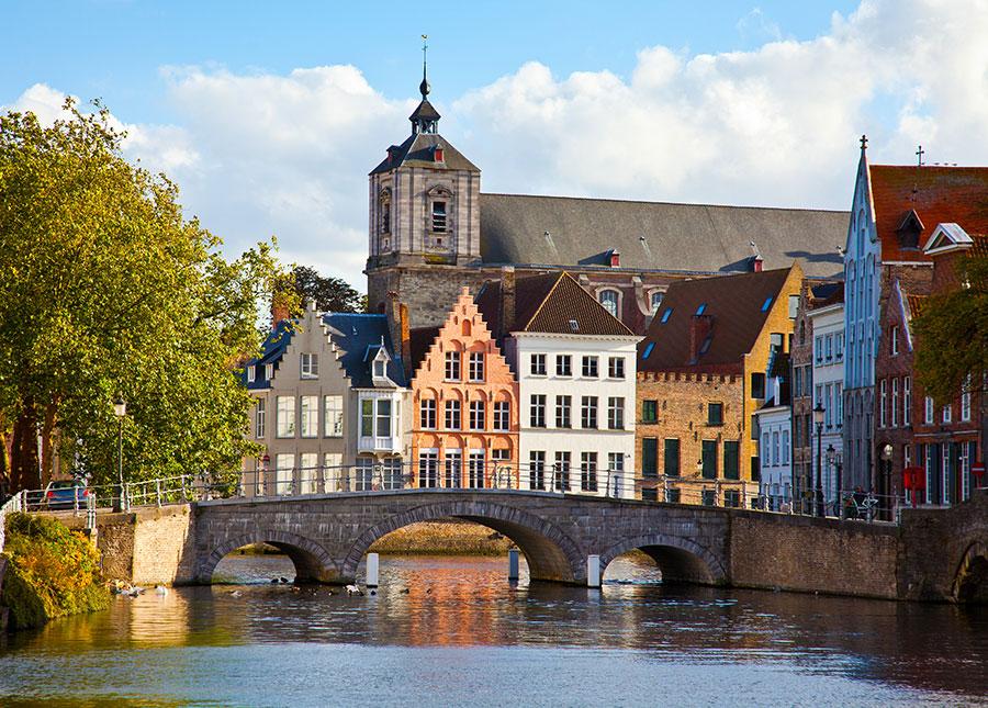 Vista de Brujas en Bélgica