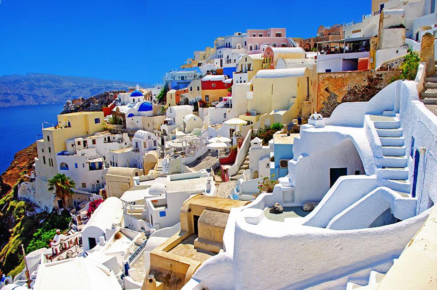 Vista de Santorini en Grecia