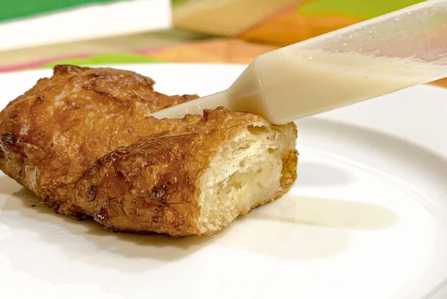 torrija de leche de chufa