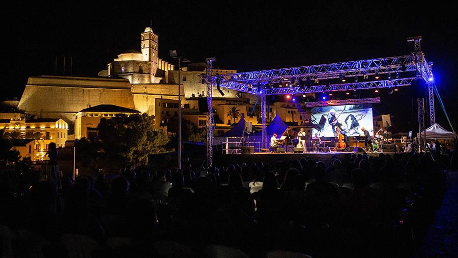 Escenario de uno de los conciertos de Eivissa Jazz