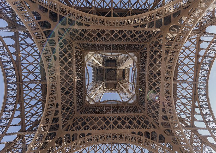 Interior de la Torre Eiffel